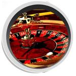 Una ruota di roulette vista attraverso un obiettivo di fotocamera